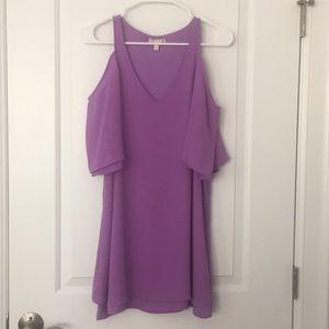 Gianni Bini Purple Cold Shoulder Dress
